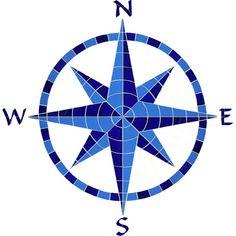 Eight Point Compass - Blue