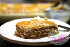 Mango Float Recipe www. - Filipino Desserts by Ping Desserts - Mango Float Recipe www. Mango Float Recipe www. Mango Float Recipe Filipino Desserts, Filipino Recipes, Filipino Food, Trifle Desserts, No Bake Desserts, Dessert Recipes, Mango Graham Float, Pinoy Dessert, Easy Summer Desserts