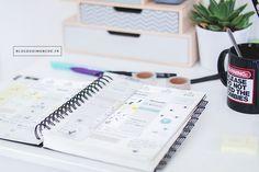 Comment je m'organise au quotidien (Nouvel Atelier! Journal Organization, Organization Hacks, Bullet Journal Inspiration, Buisness, Positive Attitude, Filofax, Happy Planner, Getting Organized, Bujo