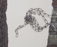 oval link brass chain handmade hammered oxidized 1ft by 4ophelia, $15.00