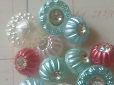 angelica : More vintage glass buttons