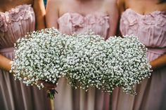 Gypsophila Bouquets Bridesmaids Gyp Baby Breath Romantic Rustic Pink Wooden Wedding http://storry.co.uk/