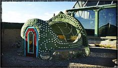 "Wow!  It's a chicken coop, ""earthship"" style!"