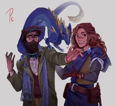 Prof. & Anya || Art by princecanary