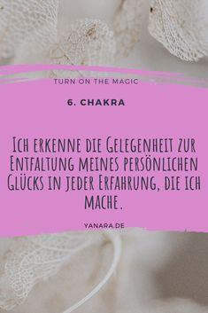 Ich erkenne die Gelegenheit zur Entfaltung meines persönlichen Glücks in jeder Erfahrung, die ich mache. #walterlübeck #affirmation  #glück #weisheit #bewusstsein Chakra, Tantra, Affirmations, Positive Affirmations, Consciousness, Self Love, Spiritual, True Words, Chakras