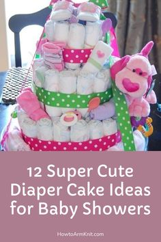 Look at these awesome 12 Super Cute Diaper Cake Ideas for Baby Showers! These amazing Cakes are so cute and it will be perfect for your baby! This artcle contains many Cake ideas that you will love, these cake could be a perfects cake for a baby shower or birthday. Have fun making your cozy little Diaper Cakes for your baby!! #12SuperCuteDiaperCakeIdeasforBabyShowers #CuteDiaperCakes #BabyShower #Baby #DiaperCakes Baby Shower Parties, Baby Shower Gifts, Baby Gifts, Shower Party, Baby Showers, Cloth Diapers, Amazing Cakes, Free Pattern, Have Fun