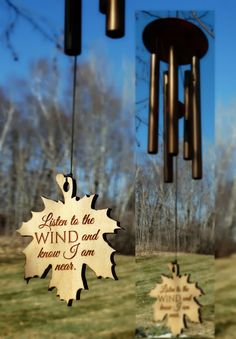 I am in the WIND Memorial Wind Chime PRIME rush shipping for funeral loss in memory of Loved One Copper Wind Chime for Memorial Garden or Porch Heaven day remembering stillborn baby miscarriage. This listing is for the copper 22 inch wind chime with maple leaf reading- Listen To The Wind And Know I Am Near. Bubinga finish wood, 5 copper aluminum tubes measuring 6-9 inches in length. Tone- Medium hand tuned 5 note scale Shipping directly to a recipient is a large part of our business. We...