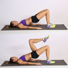 Five-Minute Back Workout | POPSUGAR Fitness  Number Five: Marching Bridge