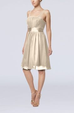 Cream Simple A-line Spaghetti Sleeveless Backless Short Club Dresses - iFitDress.com