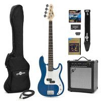 Gear4Music LA Bass Guitar   25W Amp Pack Blue Our LA Bass Guitar   25W Amp Pack features the LA Bass Guitar in Blue and our 25W Bass Amplifier and comes bundled with several useful accessories including a guitar lead padded bass guitar bag strap  http://www.comparestoreprices.co.uk/bass-guitars/gear4music-la-bass-guitar- -25w-amp-pack-blue.asp