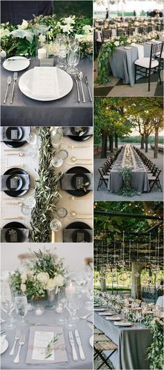 elegant green and grey wedding ideas #weddingdecor #elegantwedding #weddingcolors #weddingideas #greenwedding