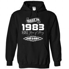 Made In 1983 Years Being Awesome #tee #teeshirt