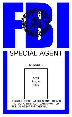 Police ID Cards Templates   ... Template Fbi Badge Sep 17 ...