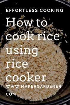 Cooking rice with rice cooker - Maker gardener Cooking rice with rice cooker . How to cook rice using a rice cooker. Easy to use and it always cooks nice fluffy rice. Best Rice Cooker, Rice Cooker Recipes, Stir Fry Recipes, Cooking Recipes, Grilled Chicken Recipes, Veggie Recipes, Asian Recipes, Healthy Recipes, Free Recipes