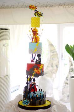 Marvel avengers superhero cake in 2019 Marvel Avengers, Marvel Cake, Batman Cakes, Funny Avengers, Marvel Birthday Cake, Novelty Birthday Cakes, Avengers Birthday, Cake Birthday, Gravity Defying Cake