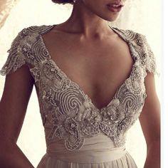 beaded top wedding dress