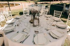 Mesa de boda sencilla, blanco, Finca la Concepcion