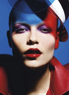 Red white & blue: natasha poly by mario sorrenti for vogue paris 5/12.