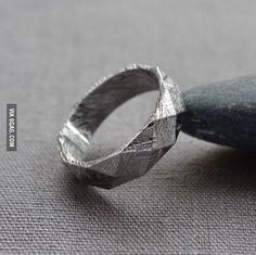 Ring made from a Meteorite