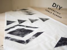 DIY geometric table runner   photo by Stephanie Collins   100 Layer Cake