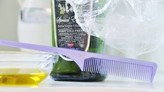 Home hot oil treatment - extra virgin olive oil, comb, shower cap.  Heat olive oil to body temperature, comb through damp hair, massaging into scalp, and cover with snug shower cap.  After an hour, shampoo out.  I wonder if essential oils would make it more of a spa treatment?