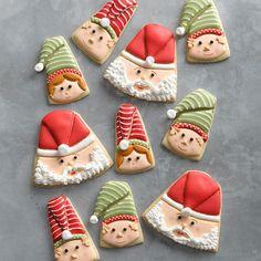 christmas cookies santa Weihnachtspltzchen 20 Make-Ahead Christmas Cookies That Are Top Secret Christmas Elf, Christmas Treats, Holiday Treats, Holiday Desserts, Christmas Recipes, Holiday Recipes, Vintage Christmas, Holiday Baking, Christmas Baking