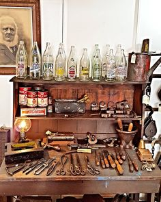Bits bobs bottles and beards. Open from 11. #vintage #antique #rustic #industrial #collectable #furniture #lighting #tools #tins #bottles #beard #art #portrait #display #home #decor #interiordesign #gifts #nostalgia  #design #styling #594kingstreet #newtown #sydney by what.remains