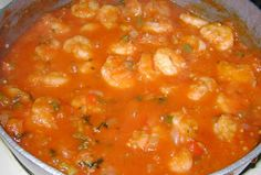 Cajun Delights: Spicy Shrimp Creole  serve over fluffy or your favorite pasta, along with a tossed salad, and French bread