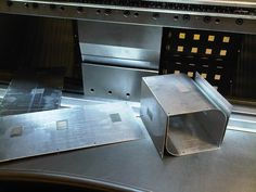 Trumpf 7036 CNC press brake top and bottom V tooling with aluminium top cover and box http://www.vandf.co.uk/plant-list/trumpf-7036/