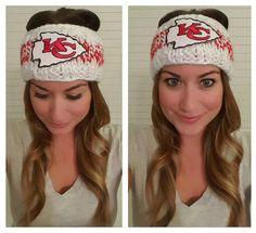 Youll love this supersoft knit ear warmer/head warmer/headband in white and red…