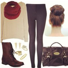 #Winter outfit #anna7891 #fashionoutfit   www.2dayslook.com