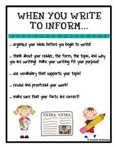 Informative/Explanatory Writing CCSS Grades 3-5   Informative writing