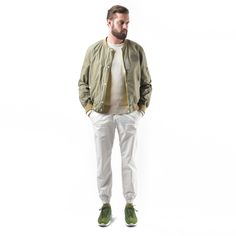 BESLOW / 16SS JOGGER PANTS WHITE