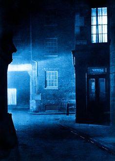 """""""London Night"""" by Harold Burdekin (1934) from Spitalfields Life - Black Raven Alley"""