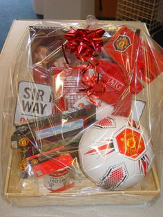 Football gift baskets Arsenal Chelsea Liverpool Man u and other teams great gift