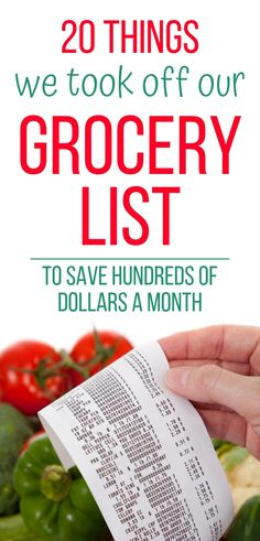 20 Things We Took Off Our Grocery List To Save Money – Finance tips, saving money, budgeting planner Money Saving Meals, Money Saving Challenge, Save Money On Groceries, Ways To Save Money, Money Hacks, Money Savers, Living On A Budget, Frugal Living, Frugal Family