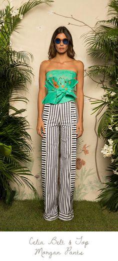 Fashion Pants, Fashion Dresses, Hot Weather Outfits, Striped Wide Leg Trousers, Weather Wear, Warm Weather, Stripes Fashion, Classy And Fabulous, Women Wear