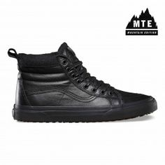 MTE winter shoes for men by Vans. The MTE revamps the legendary Vans high  top with weatherized additions designed for the elements. 93e229131