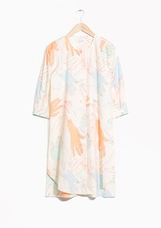 & Other Stories image 1 of Cotton Hand Print Dress in Off white
