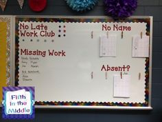 Dry erase or bulletin board: $0.    Die cut letters: $0.    Clothes pins: $1.    Command strips: ~$5.    Getting all the kids' assignments turned in: PRICELESS!!!!!