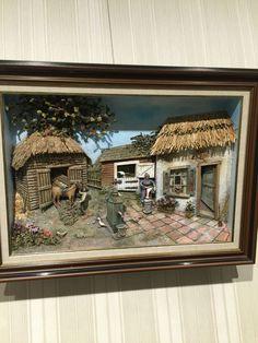 Polymer Clay Creations, Polymer Clay Art, Fairy Box, Vitrine Miniature, Clay Wall Art, Decoupage Art, Sugar Art, Cold Porcelain, Pebble Art
