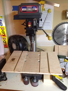 Drill Press Table 5 Drill Press Table, Drafting Desk, How To Make, Furniture, Home Decor, Decoration Home, Room Decor, Home Furnishings, Home Interior Design