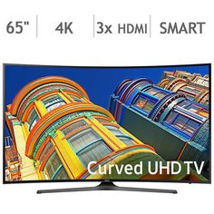 "Samsung 65"" Class (64.5"" Diag) Curved 4K Ultra HD LED LCD TV UN65KU650DFXZA #Samsung"