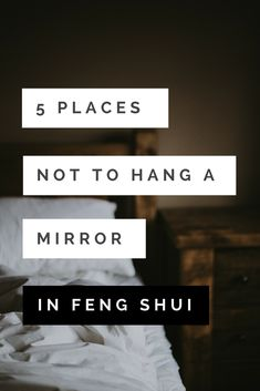 5 Places Not to Hang a Mirror (in Feng Shui) #fengshui #homedecor #mirrors #wallart #walls #interiordecorating