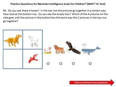 Practice questions for the WICS IV: Third Grade to Fourth Grade