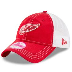 uk availability f68d3 2b2db Detroit Red Wings New Era Women s Spirited Trucker 9TWENTY Adjustable Hat -  Red