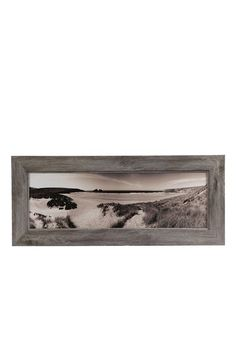 DIY project:  rustic wood frame with black and white landscape photo