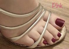 Cute Toe Nails, Cute Toes, Pretty Toes, Sexy Sandals, Fashion Sandals, Stilettos, Brian Atwood Shoes, Painted Toes, Beautiful Toes