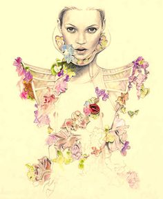 fashion illustration: Cedric Rivrain