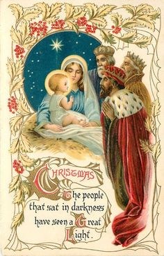Vintage Christmas Card Images Nativity